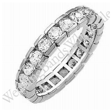 14k Gold Diamond Eternity Wedding Bands, Box Setting 2.00 ct. DEB00214K