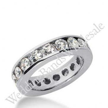 14k Gold Diamond Eternity Wedding Bands, Channel Setting 3.00 ct. DEB4212014K