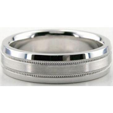 14K Gold 6mm Diamond Cut Wedding Band 678