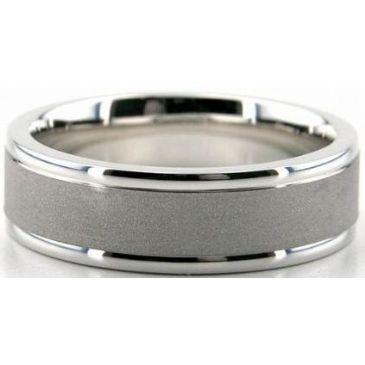 14K Gold 6.5mm Diamond Cut Wedding Band 700