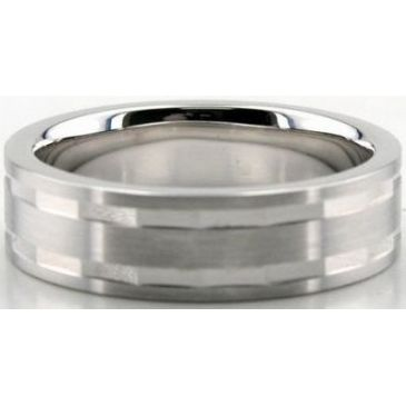 14K Gold 6mm Diamond Cut Wedding Band 629