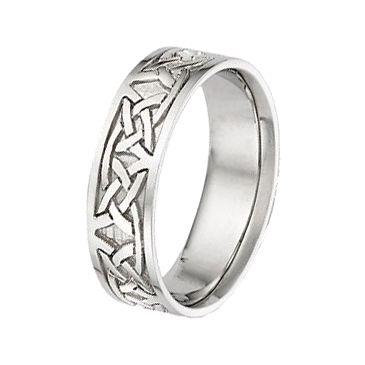 14k Gold 7mm Celtic Knot Wedding Band C4005