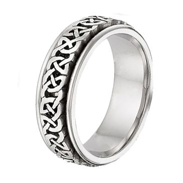 14k Gold Celtic Wedding Band 4016