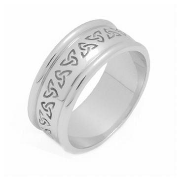 14k Gold 7mm Celtic Trinity Knot Wedding Band C4011