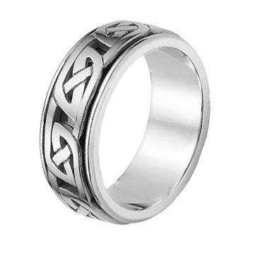 18K Gold Celtic Knot Wedding Band 4018