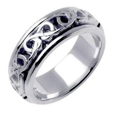 950 Platinum 7mm Celtic Knot Wedding Band C4002