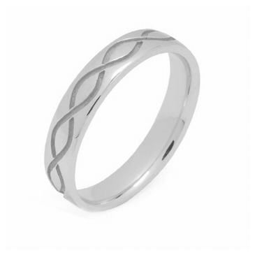 950 Platinum 4mm Celtic Twist Wedding Band C4009