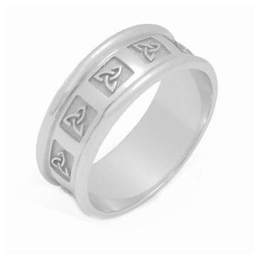 950 Platinum 7mm Celtic Trinity Knot Wedding Band C4010