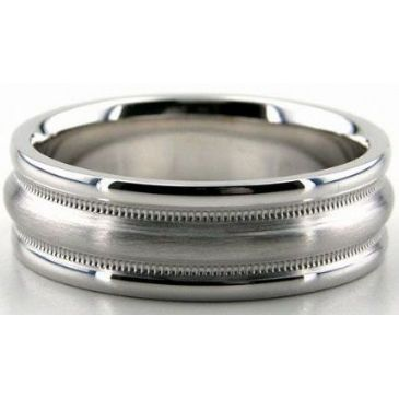 14K Gold 7mm Diamond Cut Wedding Band 650