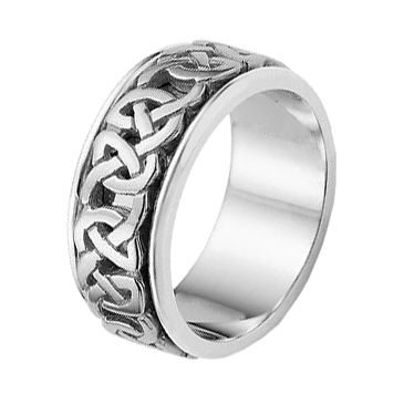 950 Platinum Celtic Knot Wedding Band 4015