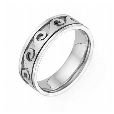 950 Platinum 7mm Celtic Spiral 4021 Wedding Band