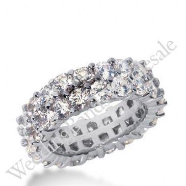 14k Gold Diamond Eternity Wedding Bands, Prong Setting 5.50 ct. DEB28614K