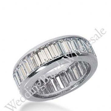 14k Gold Diamond Eternity Wedding Bands, Channel Setting 6.00 ct. DEB21814K