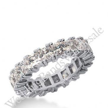 14k Gold Diamond Eternity Wedding Bands, Prong Setting 5.50 ctw. DEB1813514K