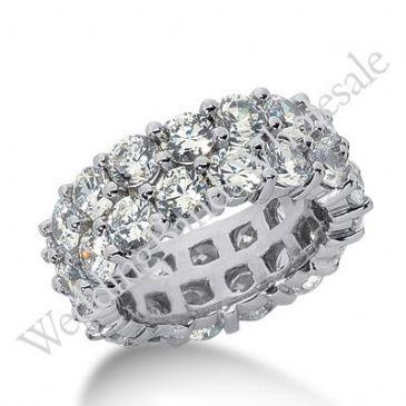 14k Gold Diamond Eternity Wedding Bands, Prong Setting 7.50 ct. DEB28814K