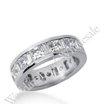 14k Gold Diamond Eternity Wedding Bands, Channel Set 4.50 ct. DEB27914K
