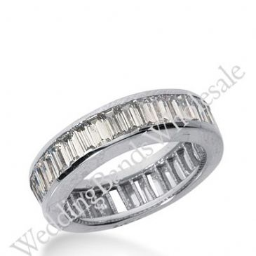 14k Gold Diamond Eternity Wedding Bands, Channel Setting 4.00 ct. DEB21714K