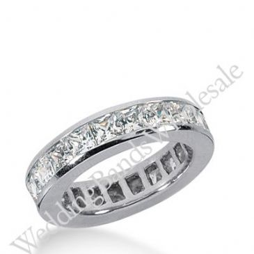 14k Gold Diamond Eternity Wedding Bands, Channel Setting 3.50 ct. DEB160314K
