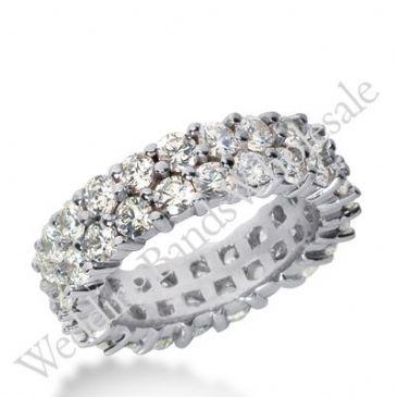 14k Gold Diamond Eternity Wedding Bands, Prong Setting 4.50 ct. DEB28514K
