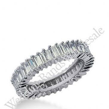 14k Gold Diamond Eternity Wedding Bands, Shared Prong Setting 2.50 ct. DEB23814K