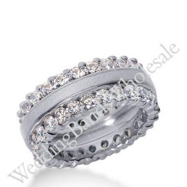 14k Gold Diamond Eternity Wedding Bands, Prong Setting 3.50 ct. DEB28214K