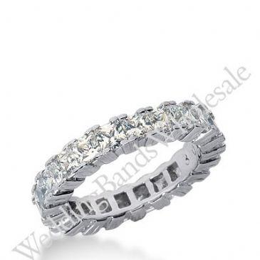 14k Gold Diamond Eternity Wedding Bands, Prong Setting 3.75 ctw. DEB181314K