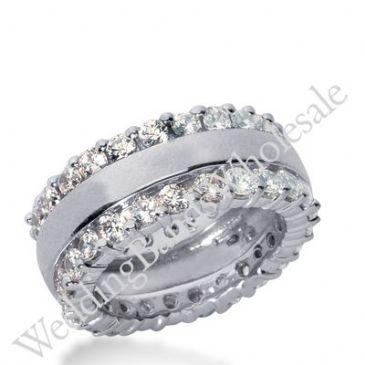 14k Gold Diamond Eternity Wedding Bands, Prong Setting 2.50 ct. DEB28114K
