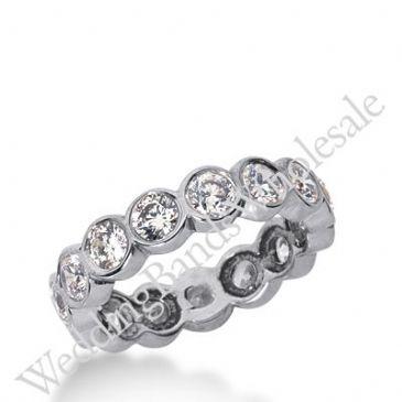 14k Gold Diamond Eternity Wedding Bands, Bezel Setting 2.00 ct. DEB2101514K