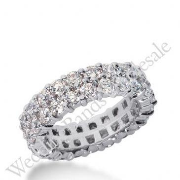 14k Gold Diamond Eternity Wedding Bands, Prong Setting 2.50 ct. DEB28314K
