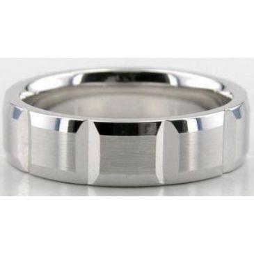 14K Gold 6mm Diamond Cut Wedding Band 605