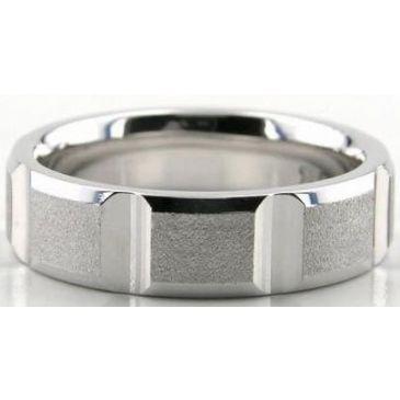 14K Gold 6mm Diamond Cut Wedding Band 606