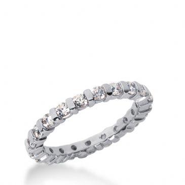 950 Platinum Diamond Eternity Wedding Bands, Bar Setting 1.00 ctw. DEB322PLT