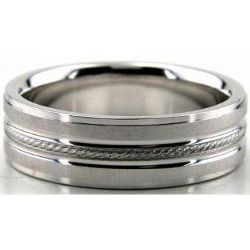 14K Gold 6.5mm Diamond Cut Wedding Band 646