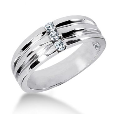 Exclusive 18K Gold & 0.18 Carat Diamond Wedding Band for Men