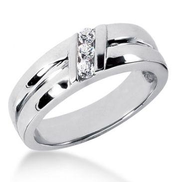 Exquisite Platinum & 0.15 Carat Diamond Wedding Ring for Women