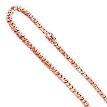 Finessed 14K Rose Gold Miami Cuban Link Curb Chain 2.5mm