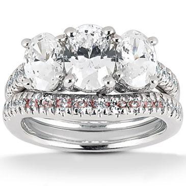 Gorgeous 14K Gold & 1.48 Carat Three Stone Diamond Engagement Ring
