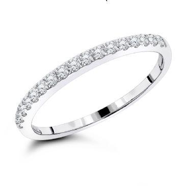 Luxurman 14K Gold & 0.25 Carat Diamond Wedding Band for Women