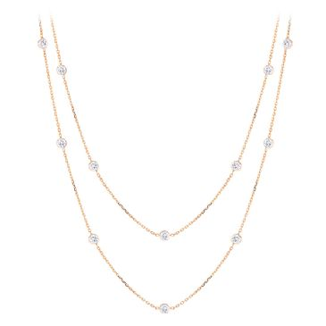 Luxurman 14K Gold & 1.5 Carat Diamond Chain