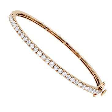 Luxurman 14K Gold & 2 Carat Diamond Bangle Bracelet for Ladies