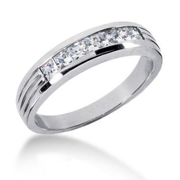 Platinum & 0.70 Carat Diamond Wedding Ring for Men