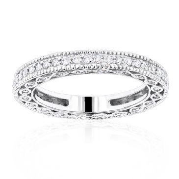 Thin 14K Gold & 0.63 Carat Round Diamond Eternity Ring