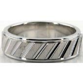 14K Gold 7mm Diamond Cut Wedding Band 687