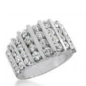14K Gold Diamond Anniversary Wedding Ring  36 Round Brilliant Diamonds  Total 2.72ctw 398WR165114K
