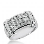 14k Gold Diamond Anniversary Wedding Ring 28 Round Brilliant 1.20ctw 406WR169014K