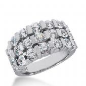 14k Gold Diamond Anniversary Wedding Ring 21 Round Brilliant Diamonds Total 3.12ctw 518WR208314k