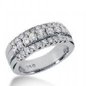14k Gold Diamond Anniversary Wedding Ring 28 Round Brilliant Diamonds Total 0.72ctw 538WR212614k