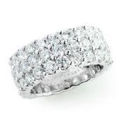 14K Gold & 4.83 Carat Round Diamond Eternity Ring