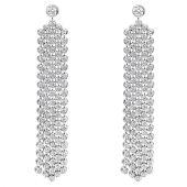 14K Gold & 5 Carat Diamond Designer Waterfall Drop Earrings for Women