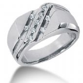 Men's Diamond Ring 9 Round Stone 0.03 ct Total 0.27 ctw 146-MDR1276